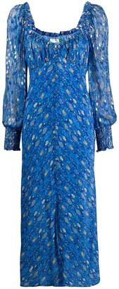 Rixo Miriam Klimt Eye Wave-print dress