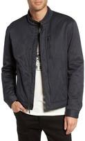 John Varvatos Men's Band Collar Jacket
