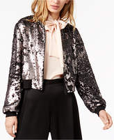 1 STATE 1.STATE Sequined Bomber Jacket