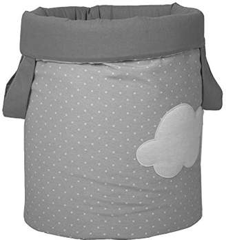 Camilla And Marc Funny Baby 623209 - juguetero Padded, Design Spots and Clouds 30 x 40 cm, Grey
