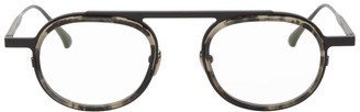 Thierry Lasry Black and Grey Absurdity Glasses