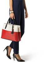 Tommy Hilfiger Colorblocked Leather Tote