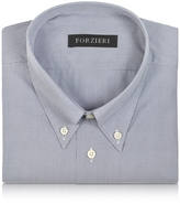 Forzieri Gray Micro Check Cotton Dress Shirt