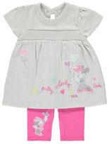 George Disney Minnie Mouse Top and Leggings Set
