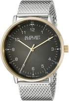 August Steiner Men's AS8091SSG Silver-Tone Stainless Steel Watch