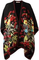 Piccione Piccione Piccione.Piccione floral intarsia knitted poncho