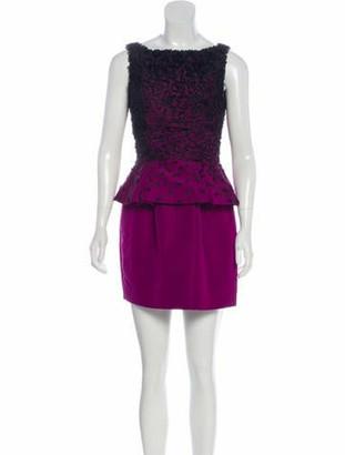 Jason Wu Silk Mini Dress Violet
