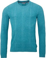 Ted Baker Mens Coppul Cabled Sweater Mid Green