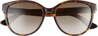 Gucci 55mm Gradient Cat Eye Sunglasses