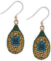 Lucky Brand Gold-Tone Peacock Pavé Drop Earrings