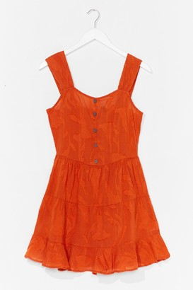 Nasty Gal Womens Button-Down TF Tiered Mini Dress - Orange