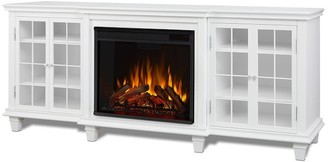 """Pottery Barn Real Flame 70"""" Marlowe Electric Fireplace Media Cabinet"""