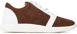 Giuseppe Zanotti Two-tone Leather And Suede Sneakers