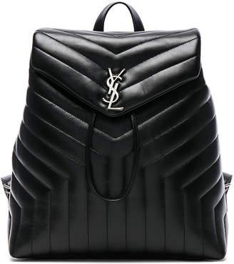 Saint Laurent Backpack Matelasse Monogram Black