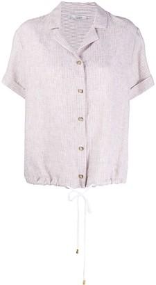Peserico Drawstring Hem Striped Shirt