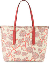 Furla Ariana Medium Floral Tote Bag, Light Beige
