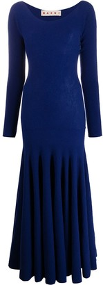 Marni Pleated Long Dress