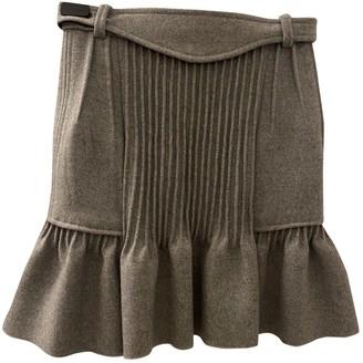 Isabel Marant Grey Wool Skirt for Women