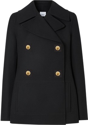 Burberry Double-Faced Pea Coat