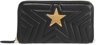 Stella McCartney Stella Star Quilted Faux Leather Continental Wallet