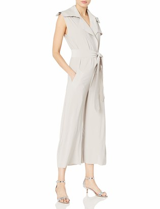 Norma Kamali Women's Double Breasted Trench Sleeveless Cropped Jumpsuit