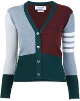 Thom Browne striped V-neck cardigan