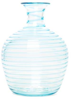 Yali Glass - A Filo Large Glass Carafe - Light Blue