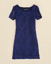 Un Deux Trois Girls' Lace Cap Sleeve Dress - Sizes 7-16