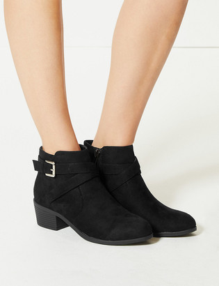 Marks and Spencer Block Heel Side Buckle Ankle Boots