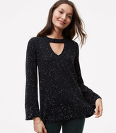LOFT Speckled Choker Sweater