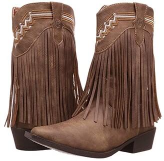 Roper Fringes (Toddler/Little Kid) (Brown Faux Leather/Vamp Fringe Shaft) Cowboy Boots