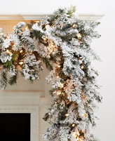 Kurt Adler 9' Pre-Lit Flocked Norway Garland