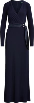 Ralph Lauren Wrap-Style Jersey Gown