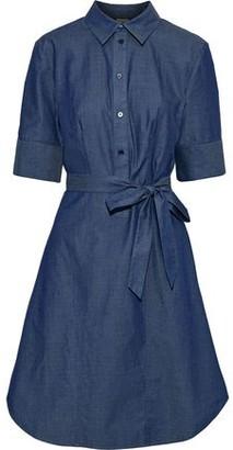 Iris & Ink Palmetto Belted Cotton-chambray Dress