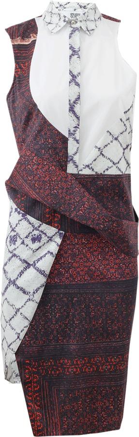 Prabal Gurung Sleeveless Draped Shirt Dress