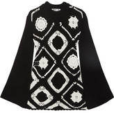 McQ by Alexander McQueen Crocheted Wool And Cotton-blend Mini Dress - Black