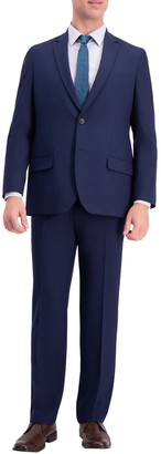 Haggar Stretch Solid 4-Way Stretch 2-Button Suit Separate Coat