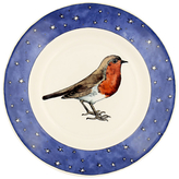 Emma Bridgewater Robin In A Starry Night Plate, Multi, Dia.21cm