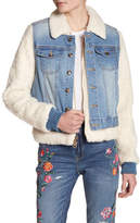 Juicy Couture Twofer Faux Shearling Denim Jacket