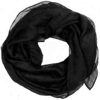 Calvin Klein Plain Scarf hijab Maxi Scarf Sarong Big Large Oversize Plain Colours Viscose (BLACK)