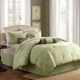 Madison Park Freeport Jacquard Sage 7-Piece Comforter Set