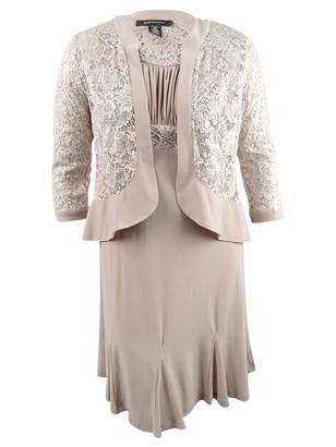 R & M Richards R&M Richards Women's 2 Piece lace Jacket Dress