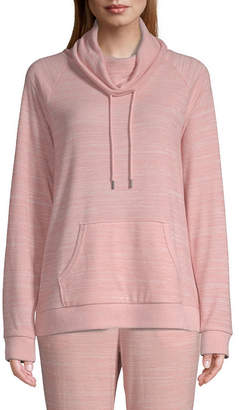 ST. JOHN'S BAY SJB ACTIVE Active Cozy-Womens Cowlneck Long Sleeve Pullover