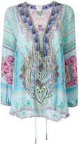 Camilla lace-up blouse