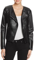 GUESS Shaun Faux Leather Cropped Jacket