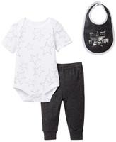 Rene Rofe Superstar Bodysuit, Pant, & Bib Set (Baby Boys)