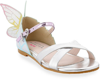 Sophia Webster Girl's Chiara Iridescent Butterfly-Wing Sandals, Toddler/Kids