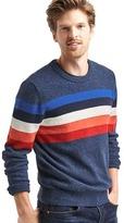Gap Crazy stripe merino crew sweater