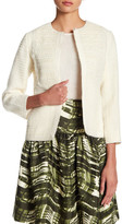 Oscar de la Renta 3/4 Length Sleeve Embellished Jacket