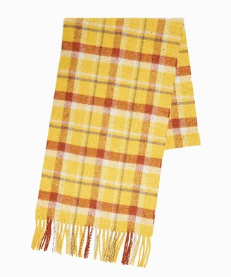 Drakes Vintage Check Scarf in Yellow
